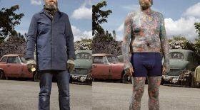 ce photographe a pris des clichés de personnes tatouées avec et sans leurs vêtements !