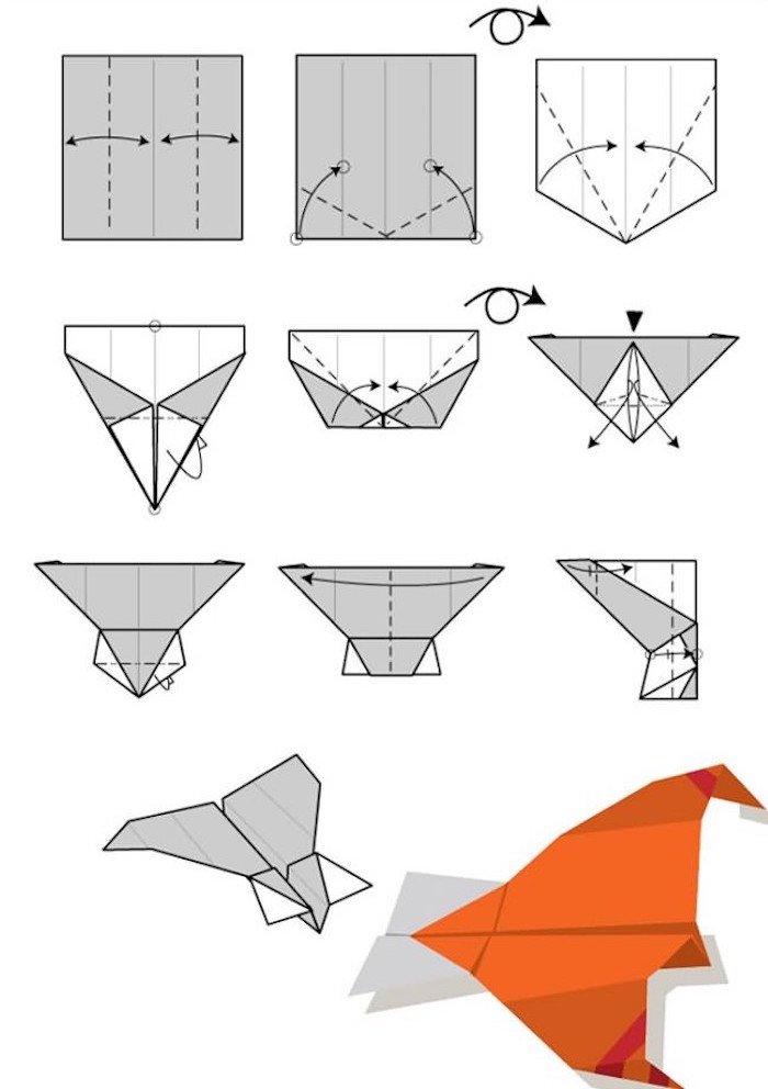 12 tutos de pliages pour r aliser des avions en papier qui volent super bien. Black Bedroom Furniture Sets. Home Design Ideas