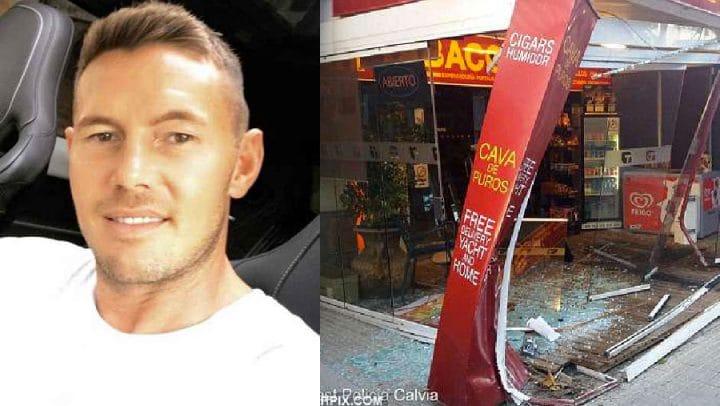 playboy millionnaire accident rolls-royce vitrine