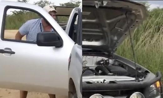 Cette voiture ne redémarrait pas, vous ne devinerez jamais ce qui se cachait derrière le moteur