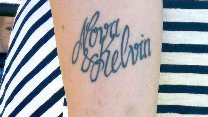 tatouage raté elle change le nom de son fils