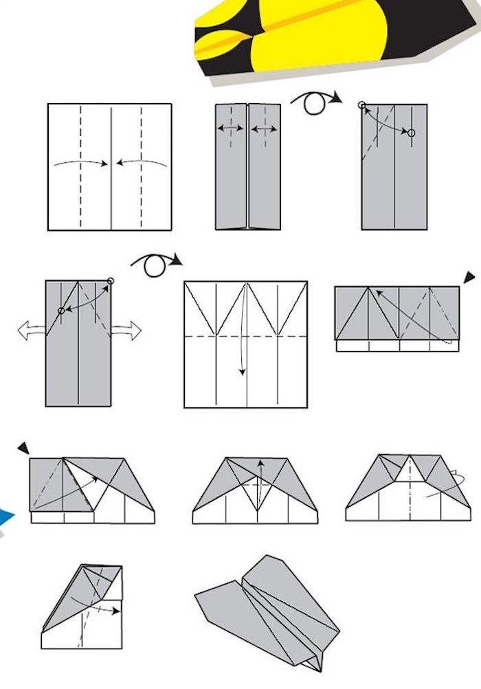 12 Tutos De Pliages Pour Réaliser Des Avions En Papier Qui