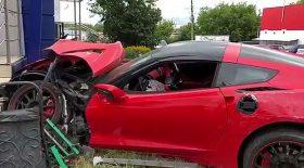 jeune sans permis accident voiture de sport corvette