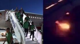 L'avion de l'équipe de football de l'Arabie Saoudite prend feu !