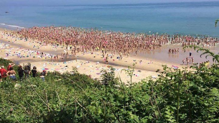 femmes nues record plongent mer
