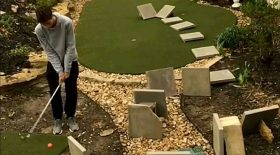 golf golfeur obstacles trou en un