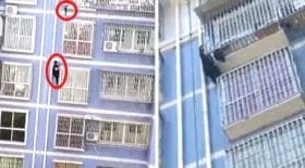 spiderman chinois sauve un enfant comme mamoudou
