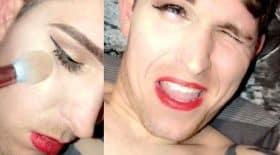 maquillage homme endormit