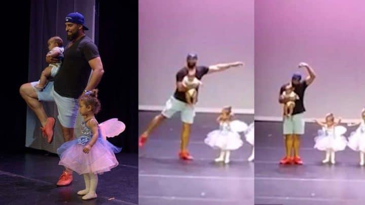 papa danse classique sur scène