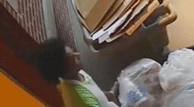 prisonniers, prison, échapper, poubelles