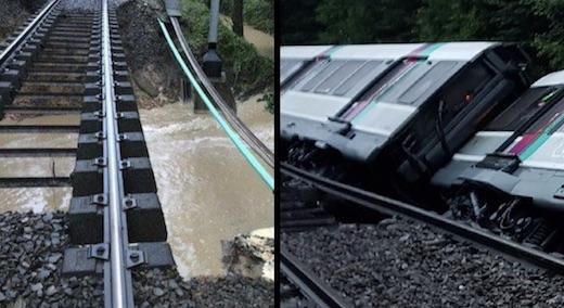 Un train du RER B a déraillé faisant sept blessés