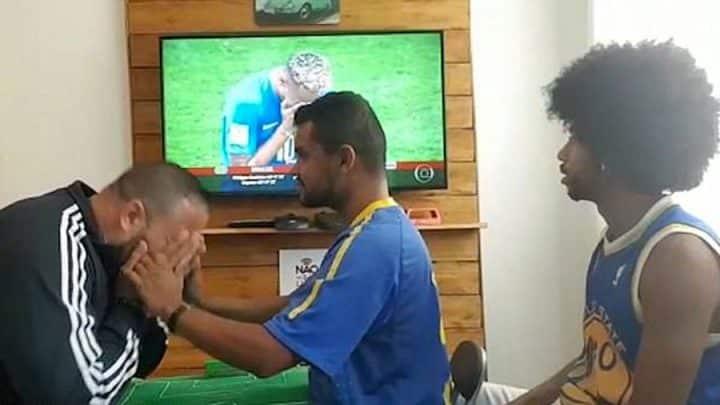 sourd et aveugle football brésil interprète