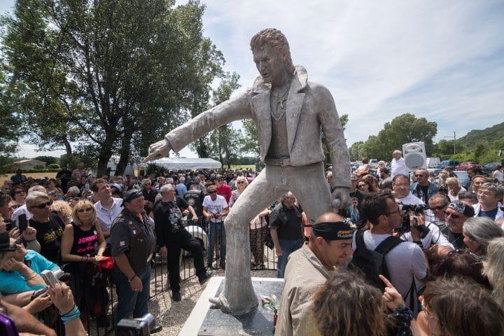 Statue Johnny Hallyday Viviers