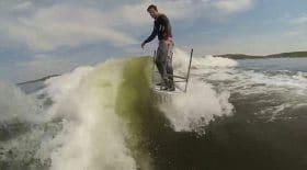 wakeboarder surf table en plastique