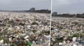 Des centaines de milliers de déchets plastique flottent dans l'océan