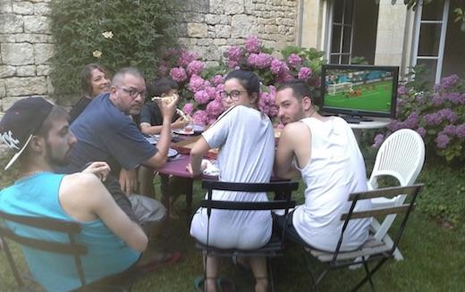 cette famille a raté le but de la France contre la Belgique