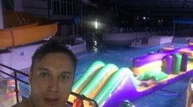 prank piscine la nuit soirée illégale