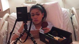 maquillage tutoriel make up salle de travail accouchement