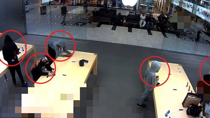 voleurs iphone magasin apple store