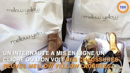 Mellow Yellow: Des chaussures neuves jetées dans la rue font