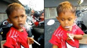 bébé fumeur fumeur des cigarettes accro