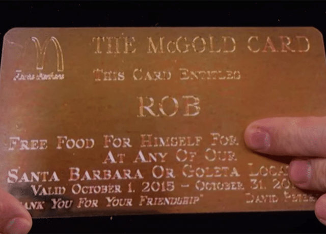 Carte Mc Gold