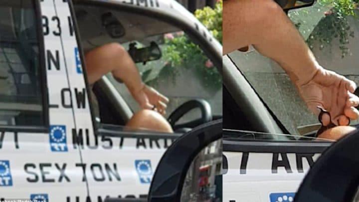 poils des jambes rasage chauffeur de taxi