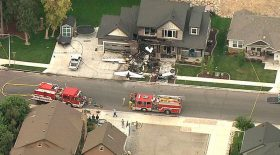 crash avion sur sa maison
