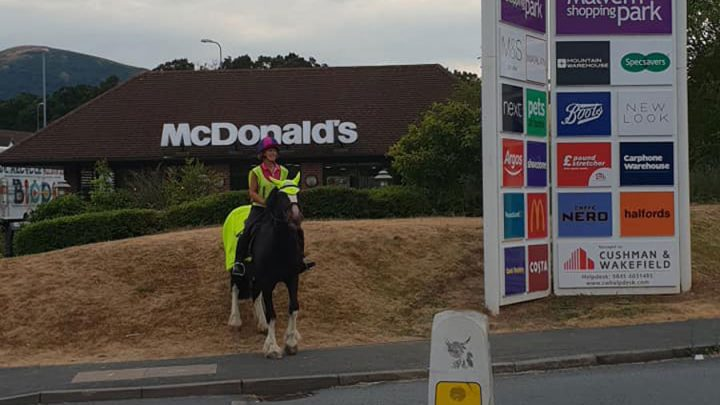 drive-in McDonald's interdiction cheval