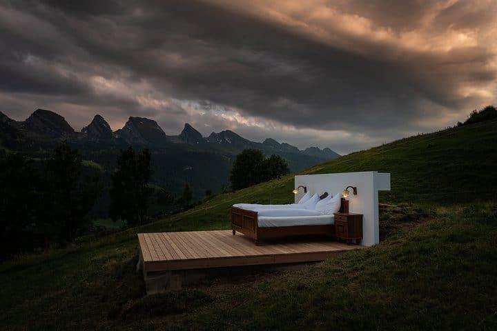Un hôtel minimaliste et insolite en Suisse