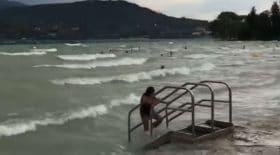 le lac d'Annecy transformé en océan