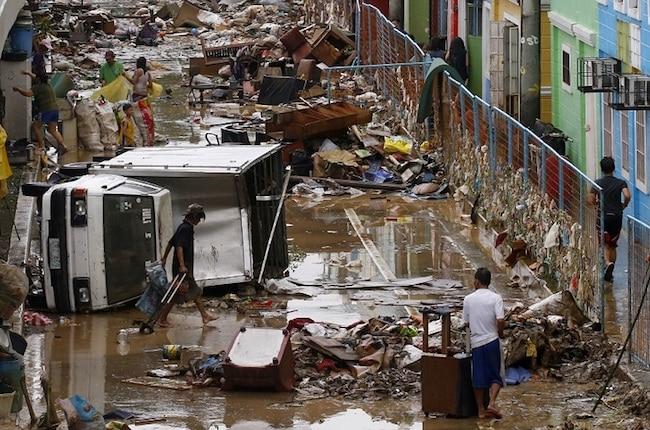 une tempête de déchets aux Philippines