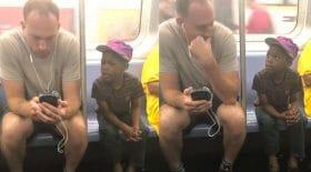 téléphone portable métro partage jeu