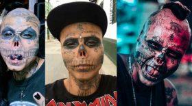 modifications corporelles crâne squelette tatouage