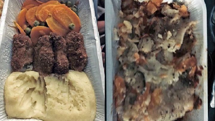 repas dégoûtant en avion