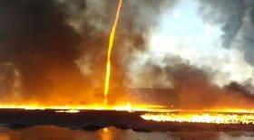 incendie tornade de feu