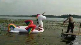 Unicorn boat OK