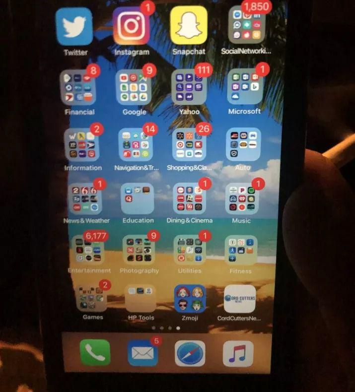 C'est le portable avec le plus de notifications au monde