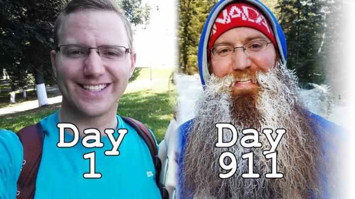 timelapse barbe qui pousse tour du monde