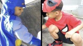 Ce petit garçon endosse son costume de super-héros pour une raison qui va vous émouvoir...