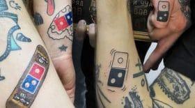 tatouages pizzas gratuites domino's pizza pub