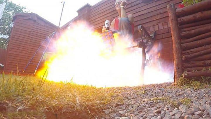 explosion bombe aérosol bougie
