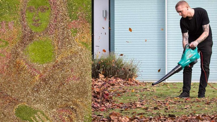 Joconde feuilles mortes souffleur