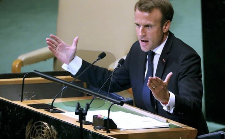 Emmanuel Macron champion de la terre