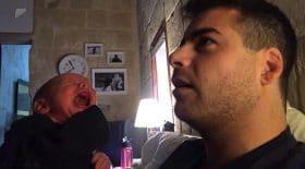 technique bébé qui pleure calmer son voic grave