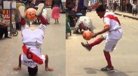 jongle jonglage football vieil homme