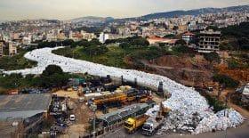rivière de déchets liban