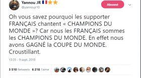 Top Tweet Les Bleus stade de France champions du monde