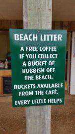 un café à la plage