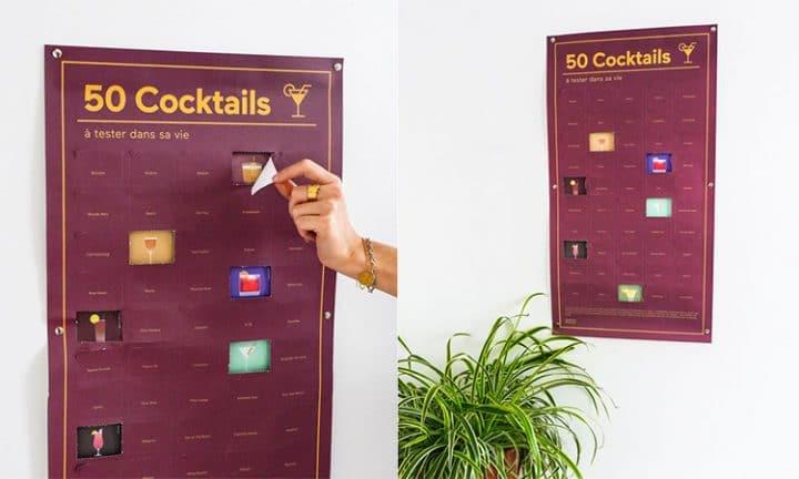 50 cocktails poster